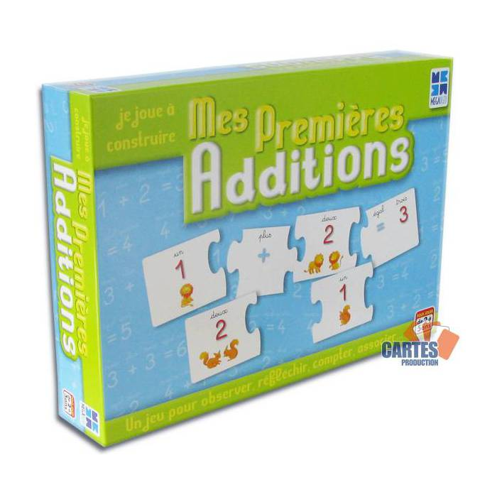 Jeu de cartes-puzzle Mes premières additions - Jeu de 48 cartes
