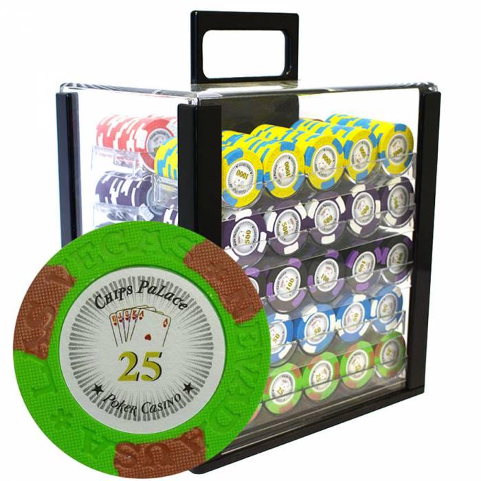 """Bird Cage de 1000 jetons de poker """"LAS VEGAS"""" - version TOURNOI - en clay composite 14 g"""