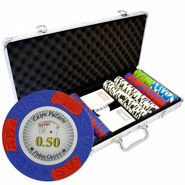 """Mallette de 400 jetons de poker """"LAS VEGAS"""" - version CASH GAME - en clay composite 14 g - avec accessoires"""