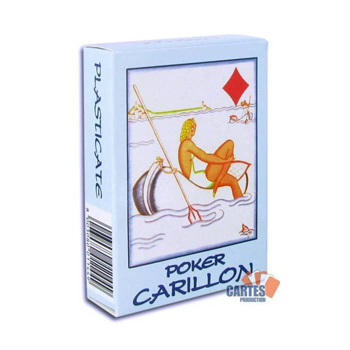 Modiano Poker Carillon - Jeu de 54 cartes cartonnées plastifiées – 4 index standards