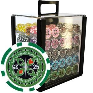 "Bird Cage de 1000 jetons de poker ""ULTIMATE POKER CHIPS"" - version TOURNOI - ABS insert métallique 12 g."