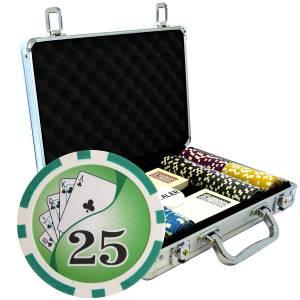"""Mallette de 200 jetons de poker """"YING YANG"""" - version TOURNOI - en ABS insert métallique 12 g - avec accessoires"""