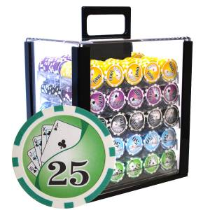 "Bird Cage de 1000 jetons de poker ""YING YANG"" - version TOURNOI - ABS insert métallique 12 g."