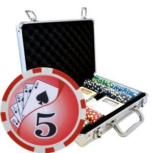 """Mallette de 200 jetons de poker """"YING YANG"""" - version CASH GAME - en ABS insert métallique 12 g - avec accessoires"""