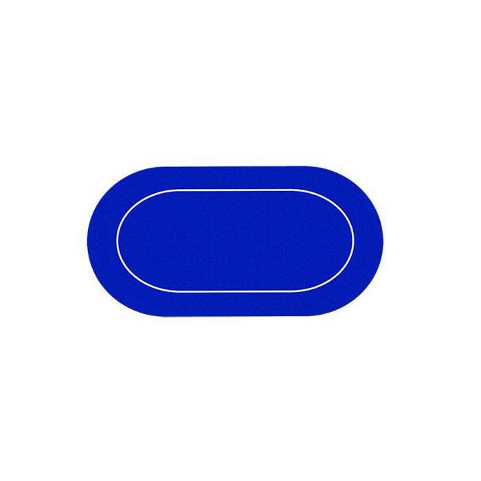 Tapis de poker ovale en Jersey – dessous néoprène – glisse parfaite - 89.5 x 180 cm – avec housse de transport