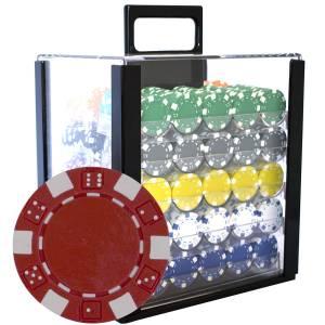 "Bird Cage de 1000 jetons de poker ""DICE"" - en ABS insert métallique 12 g - avec accessoires"