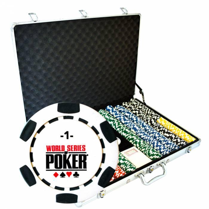 """Mallette de 1000 jetons de poker """"WSOP"""" - version TOURNOI - en clay composite 14 g - avec accessoires"""