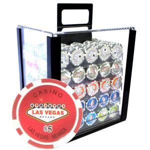 "Bird Cage de 1000 jetons de poker ""WELCOME LAS VEGAS"" - version CASH GAME - ABS insert métallique 12 g."