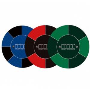 """Tapis de poker """"NO LIMIT"""" - rond- 120 cm - 6 places - jersey néoprène"""