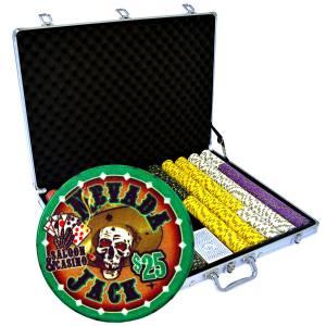 """Mallette de 1000 jetons de poker """"NEVADA JACK"""" - version TOURNOI - en céramique 10 g - avec accessoires"""