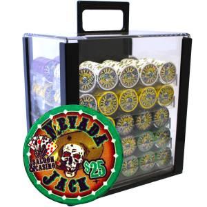 """Bird Cage de 1000 jetons de poker """"NEVADA JACK"""" - version TOURNOI - en céramique 10 g - avec accessoires"""