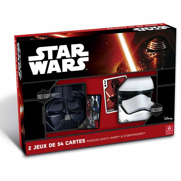"Star Wars coffret double ""DARTH VADER & STORM TROOPER"" - 2 jeux de 55 cartes"