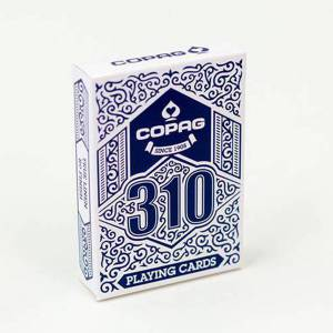 COPAG 310 - jeu de 56 cartes toilées plastifiées – format poker – 2 index standards