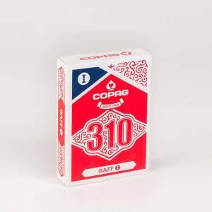 COPAG 310 GAFF - Jeu Truqué - jeu de 56 cartes toilées plastifiées – format poker – 2 index standards