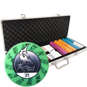 Mallette de 500 jetons de poker «THE SHARK» - en céramique 10 g  EXCLUSIVITÉ CARTES PRODUCTION