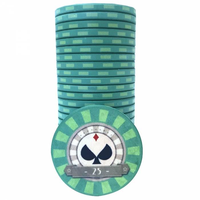 "Jetons de poker ""SPADS VINTAGE"" - en céramique - 10g"