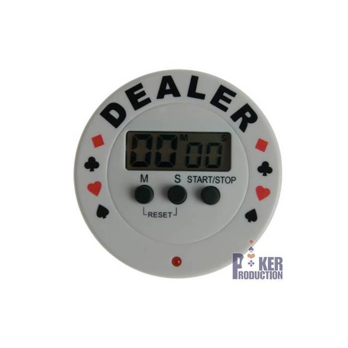 Bouton Dealer Timer TEXAS HOLDEM - en pvc – avec sonnerie