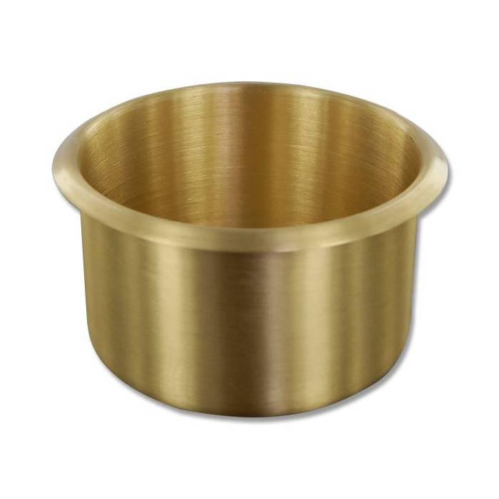 Cup holder jumbo couleur laiton pour table de poker