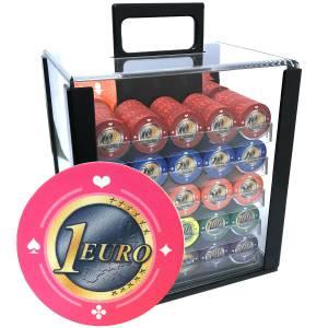 Bird Cage de 1000 jetons de poker «Série 1 - Euro» - en céramique 10 g  EXCLUSIVITÉ CARTES  PRODUCTION