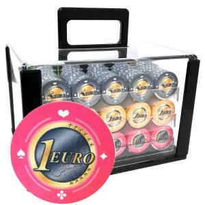 Bird Cage de 600 jetons de poker «Série 1 - Euro» - en céramique 10 g  EXCLUSIVITÉ CARTES  PRODUCTION
