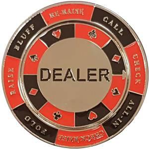 """Card-Guard """"DEALER SPINNER"""" - en métal – 50mm de diamètre"""