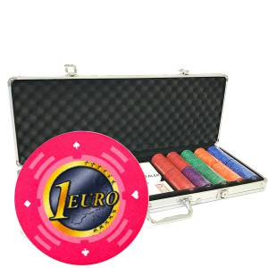 Mallette de 500 jetons de poker «Série 2 - Euro» - en céramique 10 g  EXCLUSIVITÉ CARTES  PRODUCTION