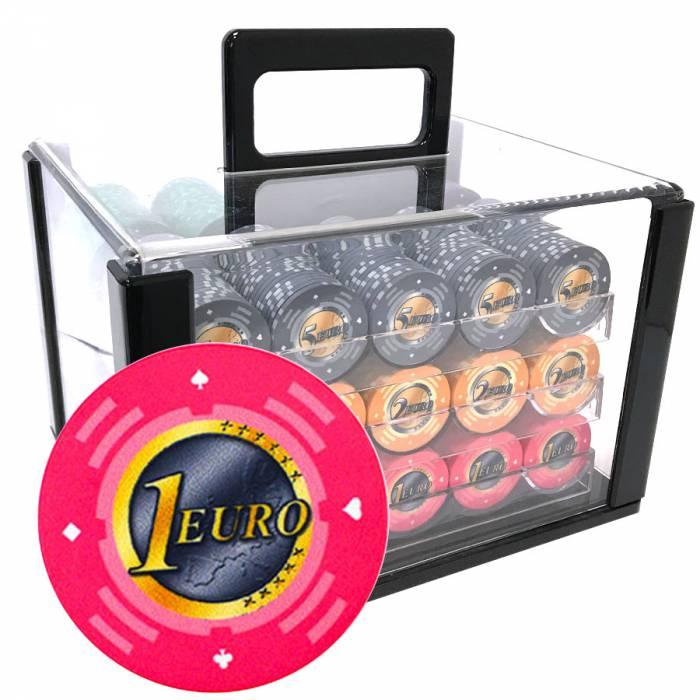 Bird Cage de 600 jetons de poker «Série 2 - Euro» - en céramique 10 g  EXCLUSIVITÉ CARTES  PRODUCTION