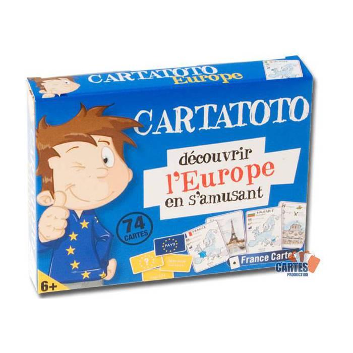 Cartatoto l'Europe – jeu de 74 cartes cartonnées plastifiées