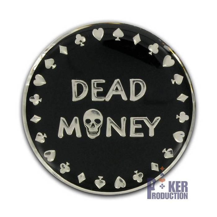 Card-Guard DEAD MONEY - en laiton – 2 faces différentes – 50mm de diamètre