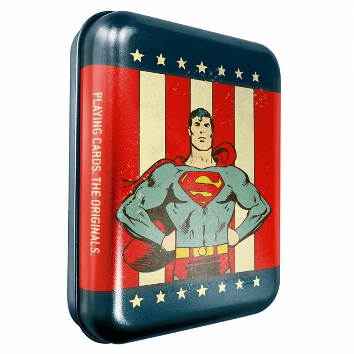 """""""DC COMICS SUPERMAN"""" - Boîte métal - Jeu de 54 cartes"""