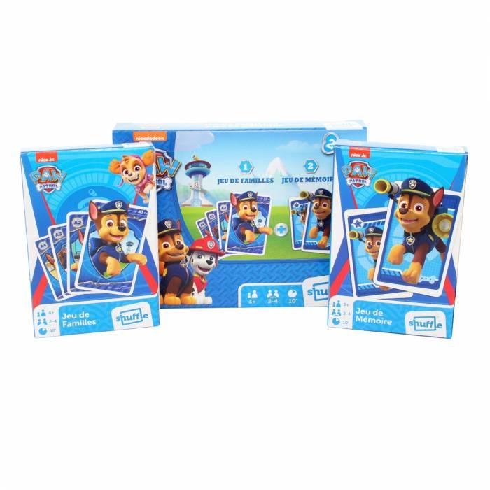 """Duo pack """"PAT PATROUILLE"""" - 1 jeu de familles et 1 jeu de mémoire"""