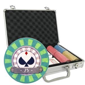 Mallette de 200 jetons de poker « SPADS VINTAGE»» - en céramique 10 g  EXCLUSIVITÉ CARTES  PRODUCTION