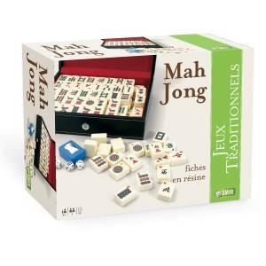 """Coffret de Mah Jong """"FAÇON CUIR"""" - fiches en résine"""