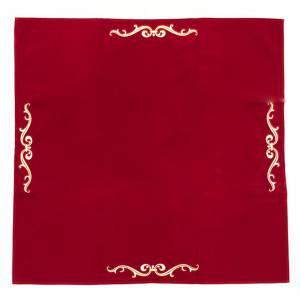 Tapis de tarot en velours LENORMAND – 80x80 cm – symbole brodé