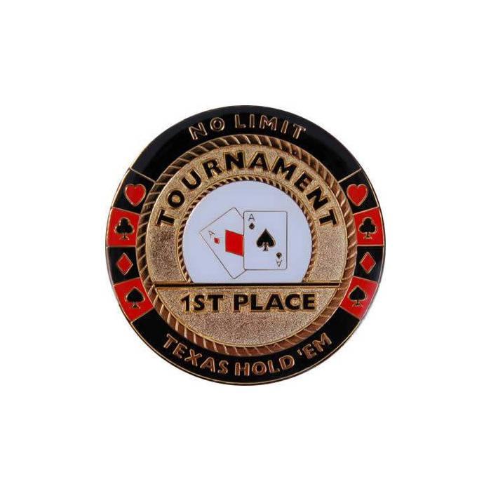 Card-Guard 1st PLACE - en laiton – 2 faces différentes – 50mm de diamètre
