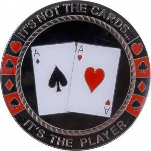 Card-Guard NOT THE CARDS - en laiton – 2 faces différentes – 50mm de diamètre