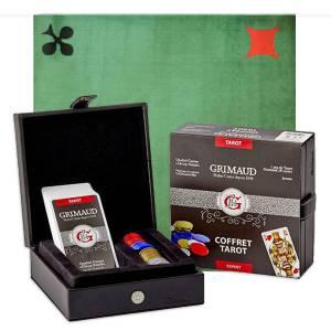 """Pack Cadeau """"EXPERT TISSÉ"""" - une boite avec cartes et carnet de score - 1 tapis de jeu"""