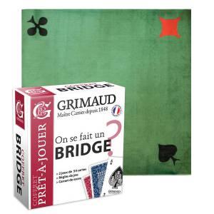 """Pack Cadeau """"BRIDGE ORIGINE TISSÉ"""" - une boite avec 2 jeux de cartes - 1 carnet de score - 1 tapis de jeu"""