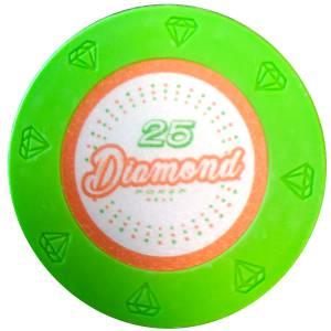 """Jeton de poker """"DIAMOND"""" - 14g - en clay composite avec insert métal - en vente à l'unité"""