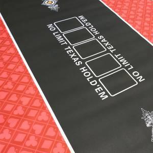 """Tapis de poker """"NO LIMIT UNI"""" - rectangulaire - 180 x 90 cm - 10 places - jersey néoprène"""