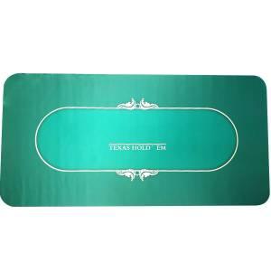 """Tapis de poker """"HOLD EM"""" - rectangulaire - 180 x 90 cm - 10 places - jersey néoprène"""