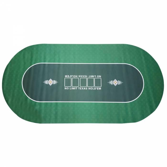 """Tapis de poker """"NO LIMIT UNI"""" - ovale - 180 x 90 cm - 10 places - jersey néoprène"""