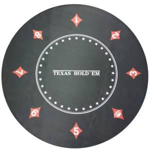 """Tapis de poker """"ÉCLIPSE"""" - rond- 120 cm - 6 places - jersey néoprène"""