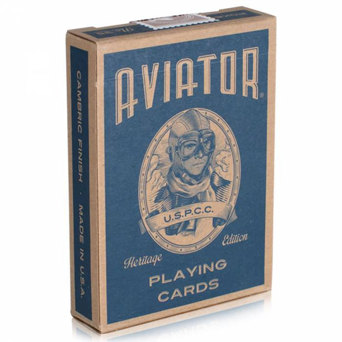 "Art of Play Aviator ""HERITAGE EDITION""- jeu de 54 cartes - format poker - 2 index standards."