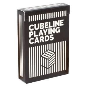 "Art of Play ""CUBELINE PLAYING CARDS"" - Jeu de 54 cartes - 2 index standards - format poker"