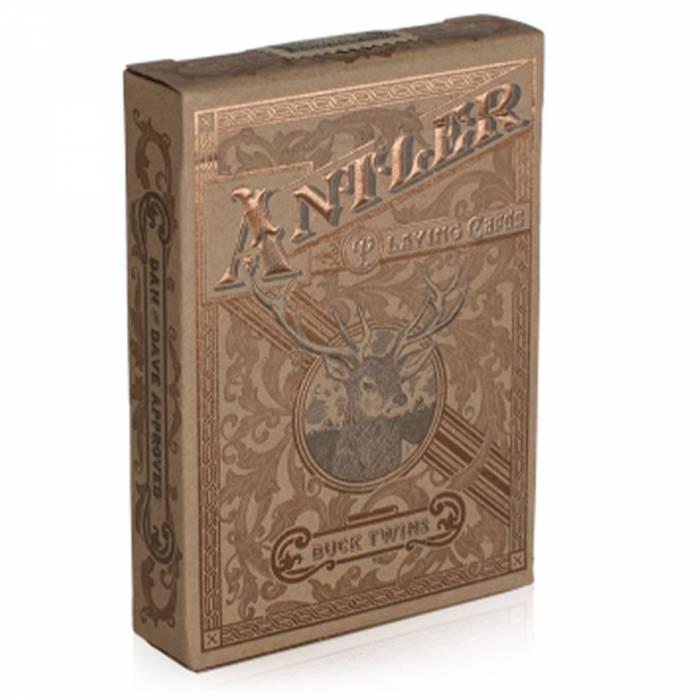 """Art of Play """"ANTLER """" - Jeu de 54 Cartes - Cartonnées - format poker - 2 index standards"""