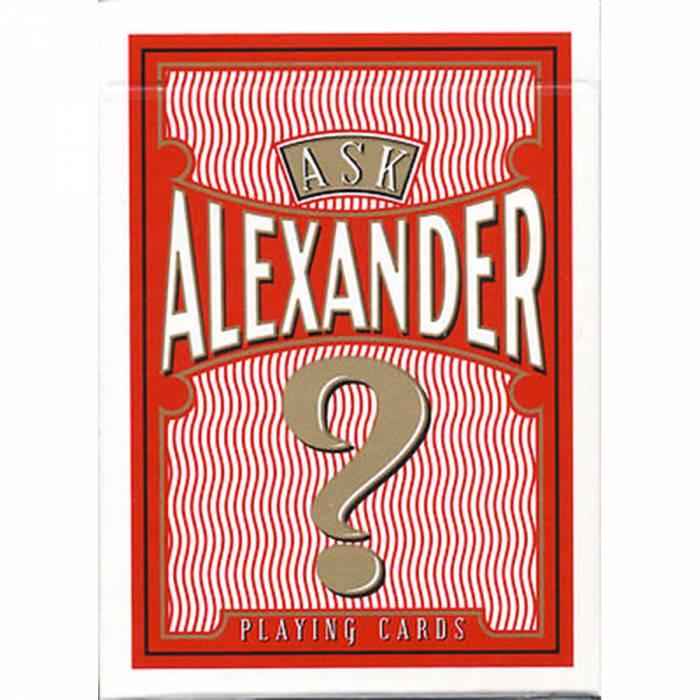"""Jeu de 54 cartes """"ASK ALEXANDER"""" - format poker - 2 index standards."""