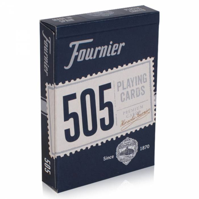 "Fournier ""505"" - Jeu de 54 cartes - 2 index standards - Format poker."