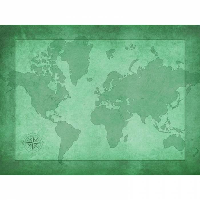 """Tapis de jeux de cartes """"MAPPEMONDE"""" - jersey néoprène - 60 x 40 cm - rectangulaire"""