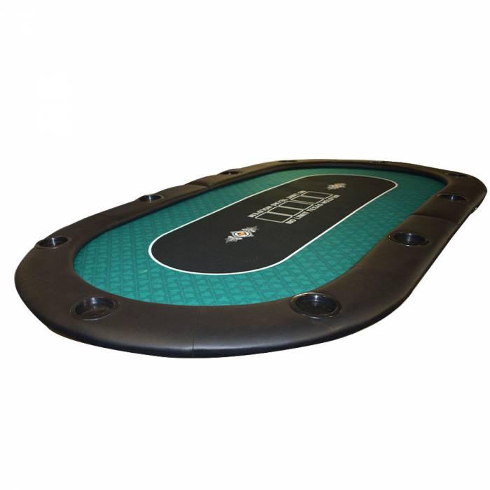 """Dessus de table de poker """"NO LIMIT UNI"""" - 200 cm x 100 cm - pliable - pour 10 joueurs"""